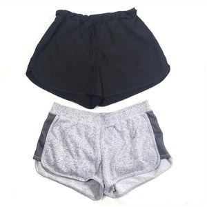 3/$25 2 Pairs of Soft Shorts Size 12/14 Gray Black